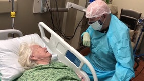 After months apart, 90-year-old Lakeland man wears full PPE to say final goodbye to wife with dementia