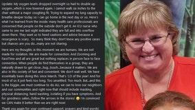 Sarasota school principal documents 'scary' 9-day COVID-19 hospitalization on social media