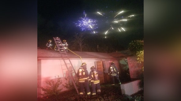 Firefighters: Fireworks cause three house fires in Clearwater