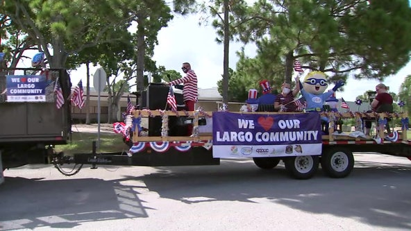 City of Largo holds drive-by Fourth of July parade