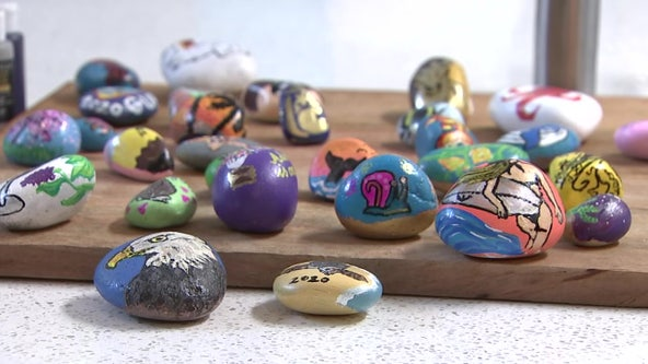 Clearwater woman connects with community by leaving inspirational rocks throughout the city