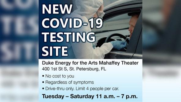 Mahaffey Theater now drive-through COVID-19 testing site