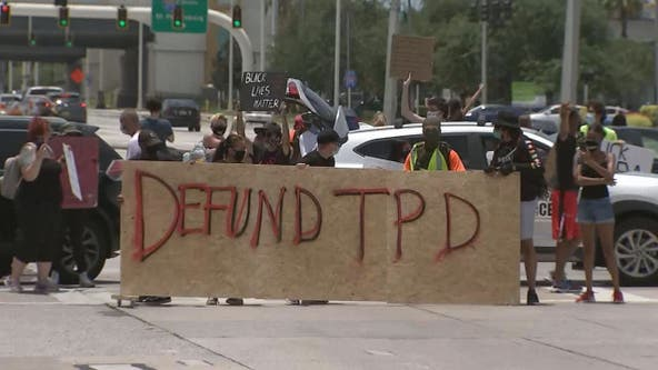 Multiple arrests made after protest shuts down busy intersection