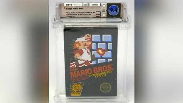 1985 Super Mario Brothers game sells for $114,000