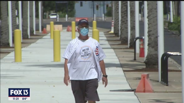 Doctor walking to baseball stadiums to raise awareness
