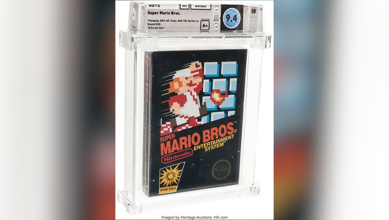 Unopened, vintage Super Mario Bros. game sold for record $114,000.