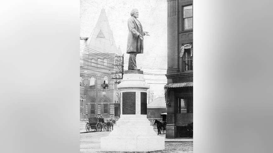 Frederick Douglass statue torn down at NY park