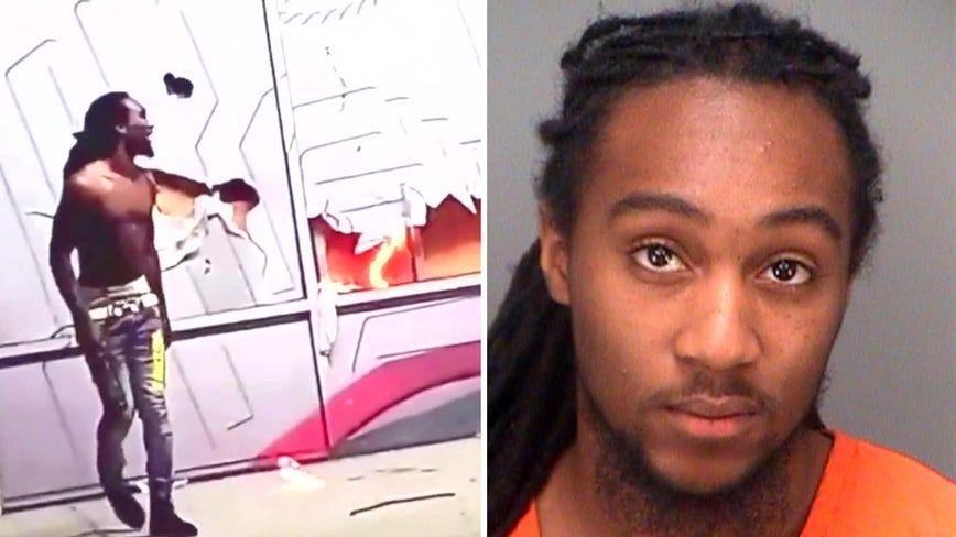 High school athletic jersey helped investigators identify Champs Sports arson suspect