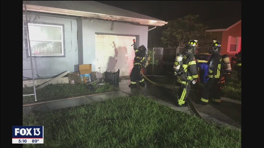 Fireworks thrown in trashcan set fire to Clearwater home