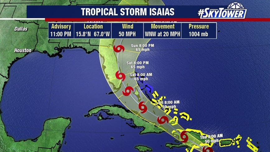 Tropical Storm Isaias forms over Caribbean