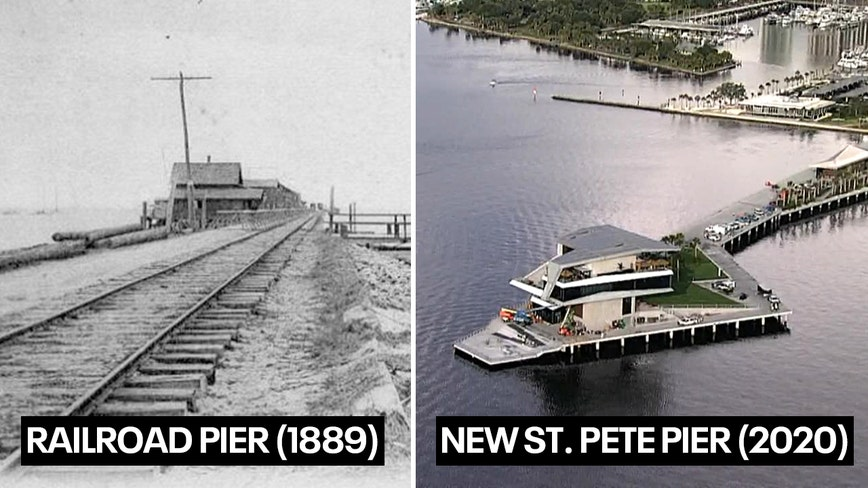From the Railroad Era to the inverted pyramid, St. Pete's piers took on many forms since the 1800s