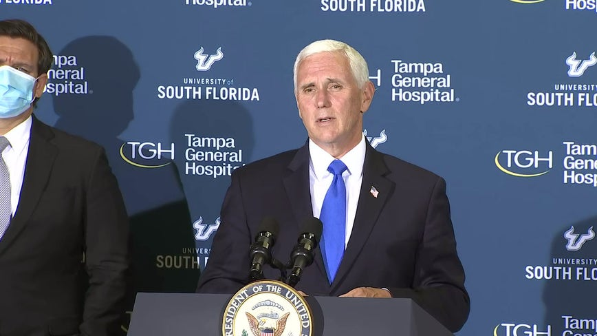In Tampa, Pence praises Florida's 'innovative' coronavirus response efforts