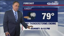 Monday evening weathercast