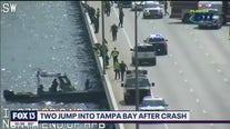Suspects crash, jump from Howard Frankland Bridge