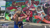 Brady gets building-sized welcome to Tampa Bay
