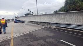 Concrete beam falls from truck, blocking Selmon Expressway lanes