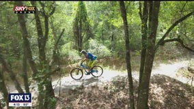 Drone's view of the Morris Bridge biking trails