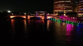 City of Tampa turns downtown bridges into works of art with lights