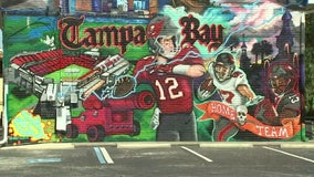 Massive mural welcomes Tom Brady to Tampa, promotes positivity in the community