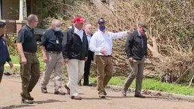 Trump surveys Hurricane Laura damage