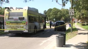 Largo police officer hit by bus while trying to escape aggressive dog
