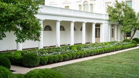 Spruced-up White House Rose Garden ready for first lady speech