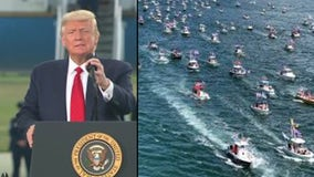 President Trump praises Florida supporters who attempted record-breaking boat parade