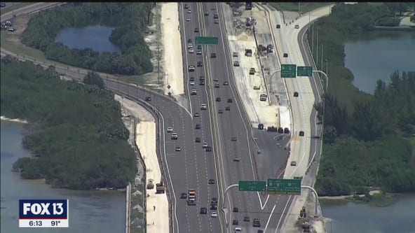 Construction ahead of schedule on Howard Frankland Bridge