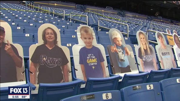 Cardboard cutouts bring Rays fandom to the stands of Tropicana Field