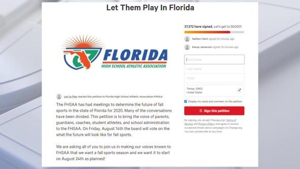 Thousands sign local #LetThemPlay petition ahead of prep sports decision