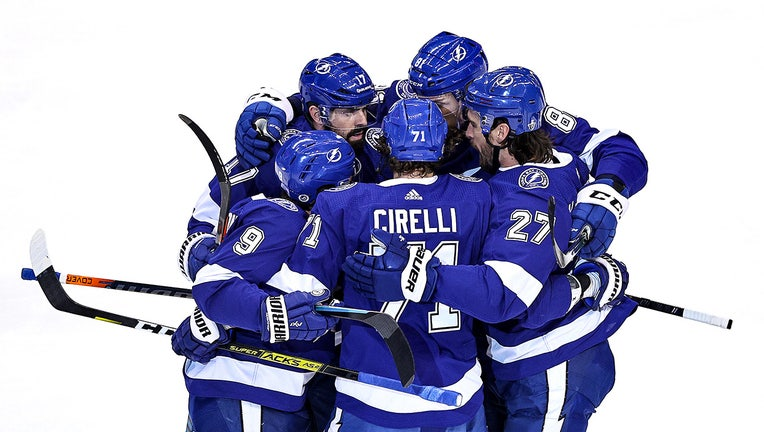 point s overtime goal sends tampa bay lightning to next round overtime goal sends tampa bay lightning