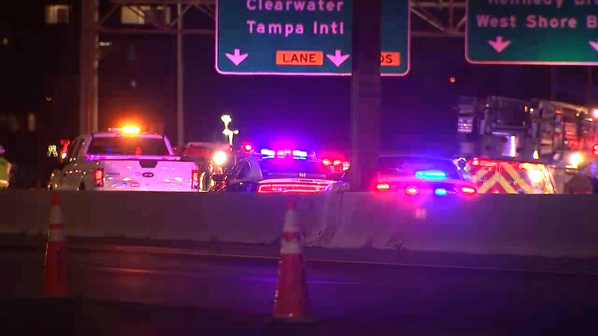 Fatal motorcycle crash closes northbound lanes of I-275 in Tampa