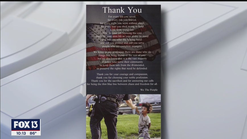 Tampa woman sends poems to every police department, sheriff's office in U.S. to 'spread love'
