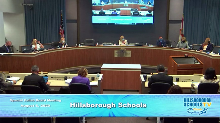 Hillsborough schools to resume classes online-only for first four weeks