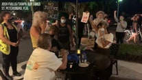 Raw video: St. Pete protesters interrupt diners on Beach Drive