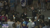 Police move in after Lightning fans get rowdy