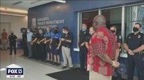 Heartfelt goodbye for retiring Sarasota officer