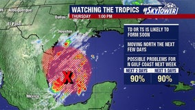 Tropical disturbance in western Gulf likely to become 'W' storm, last name on Atlantic hurricane list