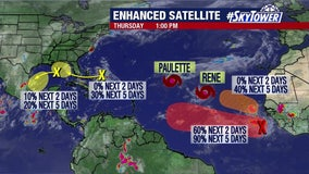 Peak day of hurricane season brings plenty of activity in the Atlantic