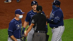 Yankees beat Rays; Cash makes threat after 101 mph brushback
