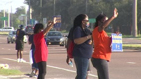 Tampa VA employees join hundreds across the country protesting for hazard pay, more PPE