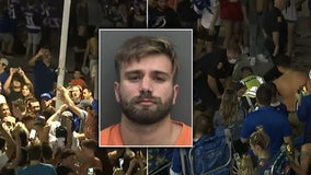 Police arrest Lightning fan accused of knocking down light pole at Amalie Arena