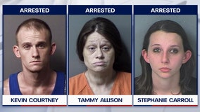 4 arrested after infant dies due to methamphetamine toxicity in Citrus County