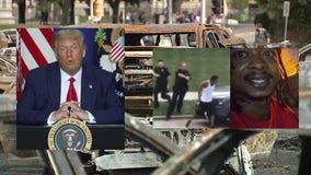 In Kenosha, President Trump calls violence 'domestic terror,' 'anti-American'