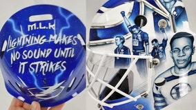 Lightning goalie's mask honors legendary athletes who stood for social justice