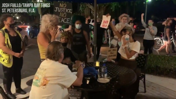St. Pete protesters have confrontation with diners on Beach Drive