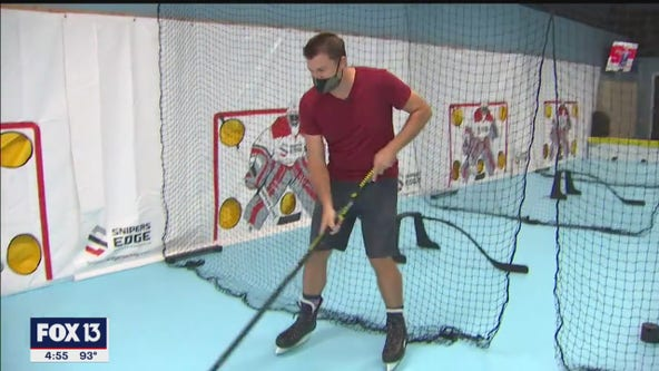 Iceless hockey is slick new attraction