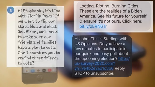 Political text messages peak as Election Day nears, virus prevents most in-person campaigning