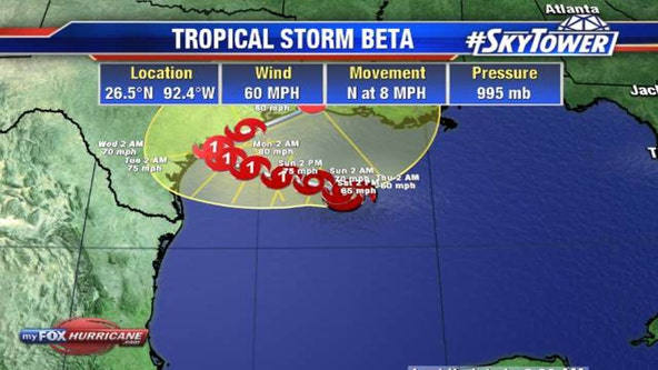 Beta expected to strengthen, spurs hurricane watch for Texas