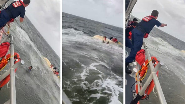 Coast Guard saves 7 boaters after vessel capsizes near Delta Cut